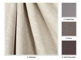 120 Inch Linen Curtain Panels by 28 Colors Handmade Premium European Linen Drapery Panel Curtain
