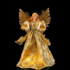 Gold Angel 14in Tree Topper