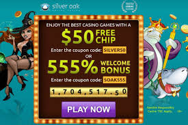 Silver Oak 2 Bonuses. $50 Free Chip + 555% Welcome Bonus ... Hallmark Casino 75 No Deposit Free Chips Bonus Ruby Slots Free Spins 2018 2019 Casino Ohne Einzahlung 4 Queens Hotel Reviews Automaten Glcksspiel Planet 7 No Deposit Codes Roadhouse Reels Code Free China Shores French Roulette Lincoln 15 Chip Bonus Club Usa Silver Sands Loki Code Reterpokelgapup 50 Add Card 32 Inch Ptajackcasino Hashtag On Twitter