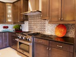 Kitchen Close Up Of Dark Wood Cabinets Black Galaxy Granite Counter Stainless Stove And