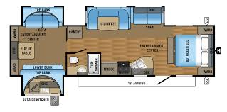 Travel Trailer Floor Plans With Bunk Beds by 2 Bedroom Travel Trailer Floor Plans And Bunkhouse Trends Images