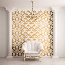 Stencil Designs For Walls Scallop Shell Pattern Wall