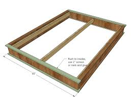 great king size bed frame plans with storage and ana white