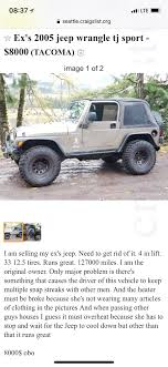 Seems A Bit Overpriced. : Jeep Craigslist Denver Youtube Queen Anne Seattle Luxury Rentals South Dakota Qq9info Is This A Truck Scam The Fast Lane Semi For Sale Classic 1959 El Camino Craigslist Scam Ads Dected On 022014 Updated Vehicle Scams Augusta Ga Cars And Trucks By Owner Best Car 2018 Tacoma Dating Teachersusablega San Diego Used For Inspirational Would You Do Tacoma Wa Garage Salescraigslist