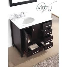 Single Sink Bathroom Vanity by Chicago Walnut Single Sink Bathroom Vanity 3cm White Quartz Top