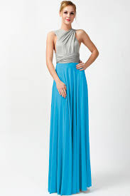 two tone convertible dress bridesmaid dresses gray and teal gt 36