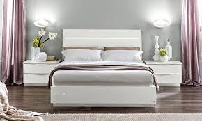 bett futonbett modernes schlafzimmer weiß hochglanz chrom