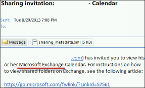 How to open a shared calendar from an Outlook sharing invitation
