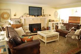 Dark Brown Leather Couch Living Room Ideas by Living Room Entrancing Picture Of Family Room Decoration Using