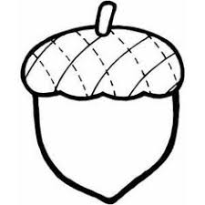 Acorn Coloring Page Template Templates Printables Nut Clip Art Black And White