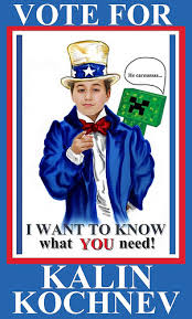 Uncle Sam Spoof Student Council Election Poster With Minecraft
