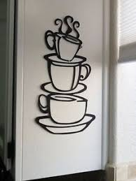 Image Is Loading Coffee House Black Cup Design Java Silhouette Wall