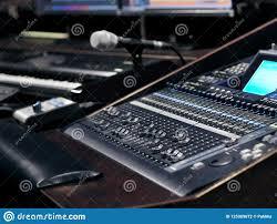 Download Music Recording Equipment In Sound Studio Stock Photo