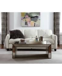 Martha Stewart Saybridge Sofa by Sophia Mirrored Cocktail Table Furniture Macy U0027s