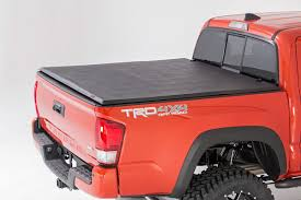Soft Tri-Fold Bed Cover For 16-17 Toyota Tacoma | Rough Country ... Undcover Truck Bed Covers Flex Herculoc Llc Is Announcing Its New Industrial Pickup Bed Cover For Gaylords Lids Butterfly Bedcover Lux Trux Unlimited Roll Top Lapeer Mi Century Camper Shells Bay Area Campways Tops Usa Classics Rancheros El Highway Products Inc Sportwrap Lid Og Series Hinged Tonneau With Gator Trifold Folding Video Reviews