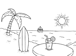 Coloring Pictures Beachprintablecoloring Pages