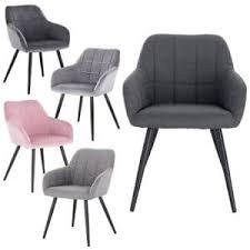 1x esszimmerstühle design stuhl mit arm rücklehne samt metall farbauswahl 1203