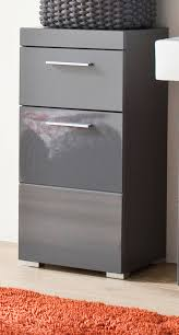 badezimmer unterschrank amanda in grau hochglanz 37 x 79 cm