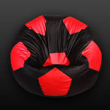 100 Foot Cozy Ball Bean Bag Red Black With Beans Bean Bags Chennai