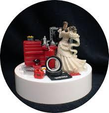 Car AUTO MECHANIC Wedding Cake Topper Bride Groom Top Tools FUNNY Racing Tire