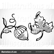 Royalty Free RF Acorn Clipart Illustration by BestVector