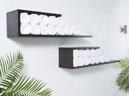 Bathroom Shelf With Towel Bar Wood by Bathroom Brass Towel Bar Towel Shelves Hotel Towel Rack