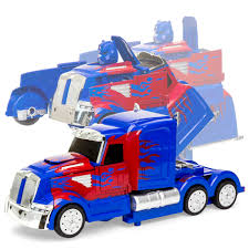 Best Choice Products 27MHz Kids Transforming RC Semi-Truck Robot ...