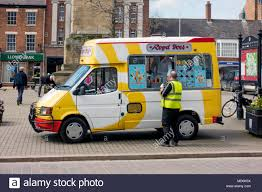 100 Lloyds Food Truck Man In A Yellow Safety Tabard Buying Ice Cream From A Royb Ices Van