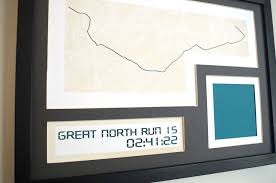 Great North Run Medal Display Case Route Map