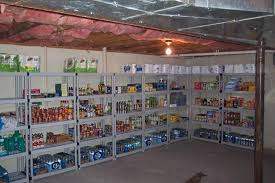 perfect basement storage ideas for pantry with plastic shelves