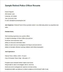 Gallery Of Police Officer Resume
