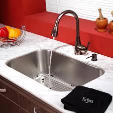 Oil Rubbed Bronze Faucets Single Handle by Kraus Kbu14kpf2230ksd30orb 31 1 2 Inch Undermount Single Bowl