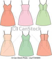 Can Stock Photocsp17344904 In Summer Dresses Clipart