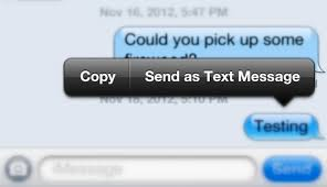 Send an iMessage as a Text Message Instead from iPhone