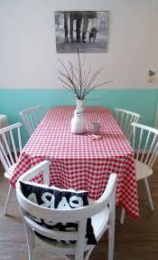 Color Block Walls With Print Tablecloth Via Decor8