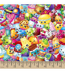Curtain Fabric By The Yard by Shopkins Fleece Fabric Packed Print Joann