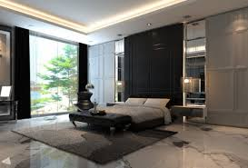 Contemporary Master Bedroom Hd Decorate With Black Backdrop And Elegant Interior Design Decorating Ideas Big Window