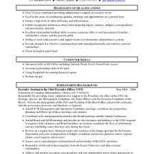 Resume Examples For Executive Assistants To Ceo Archives
