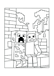 Diamond Steve Coloring Pages Color Games With A Sword