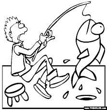 Ice Fishing Coloring Page