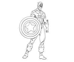 Inspiring Idea Captain America Printable Coloring Pages Avengers To