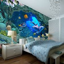 Underwater World Wallpaper Custom Wall Mural Ocean Dolphin Photo Bedroom Boys Childs Living Room Decor