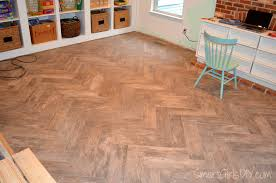 Tile Spacers Home Depot by Grouting A Herringbone Tile Floor Family Room 11