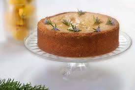 Lemon And Rosemary Polenta Cake