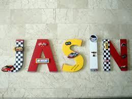 Nascar Race Car Wall Letters Custom Letters Auto Racing Boys