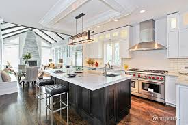 kitchen with l shaped subway tile in winnetka il zillow digs