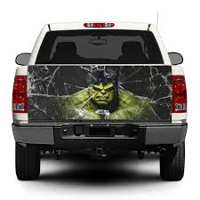 100 Tailgate Truck Product Hulk And Broken Glass Decal Sticker Wrap Pickup