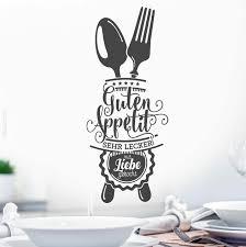 guten appetit wandtattoo küche esszimmer wand spruch