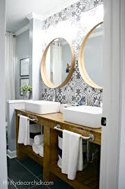 the bathroom renovation is done and amazing from thrifty decor