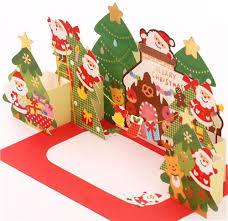 Cute Ginger Bread House Christmas Tree Glitter Letter 3D Pop Up Card 5